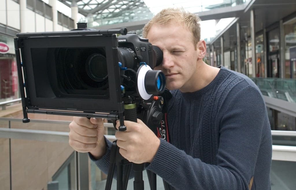 video production liverpool - cameraman